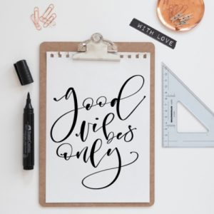Freebie Lettering Good Vibes Only